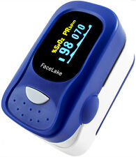 Pulse oximeter FL-100 with alarm, Fingertip Blood Oxygen Monitor OLED, FDA