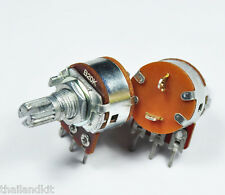 3 pcs Alpha 20KB/ B20K/ 20K Linear Pot Potentiometer 15mm 1/4W + ON/OFF Switch