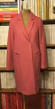 TOPSHOP pink wool coat jacket UK 8 / US 4 straight boyfriend fit winter