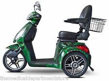 EWheels Camo Green FAST EW-36 Mobility Scooter, Electric 3 Wheel Cart, 350 lb
