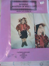 ELF~GOBLIN~FAIRY~GNOME WURZLE-Kerryn Segond WHIMSY CLOTH  ART DOLL PATTERN~2000