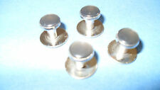 HIGH QUALITY DRESS SHIRT STUDS -  NICKEL PLATED BASE AND SMOKE STUD Pack of four