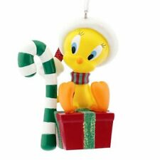 Looney Tunes Tweety Bird with Candy Cane Ornament xmas NIB