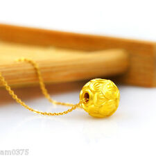 1Pc Pure 999 Solid 24k Yellow Gold Lucky Loose Beads Pendant Bamboo Design 9.5mm
