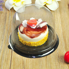25pcs Clear Plastic Cupcake Boxes Mousse Food Diaplay Container Take-out Package