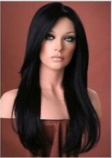 100% Real Hair! Malaysian Remy Long Balck Straight Hair Human Hair Wigs