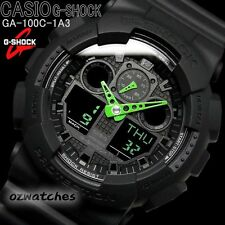CASIO G-SHOCK MENS WATCH GA-100C-1A3 FREE EXPRESS BLACK x GREEN GA-100C-1A3DR
