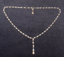 HANDCRAFTED PEARL CHAIN LINK NECKLACE,ANTIQUE SILVER,NATURAL COL ,BRAND NEW,AUST