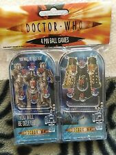 Doctor who  two dalek and two cybermen pin ball games toys
