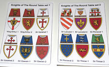 24 custom stickers knights of the round table set 1 & 2 - lego torso size