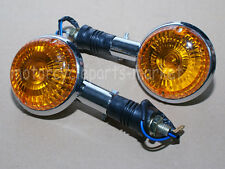 Motorcycle Front / Rear Yamaha Turn Signals Amber Lens Indicator Winker Blinker
