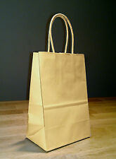 100 5x4x8 (approximate) Small Brown Paper Shopping Gift Bags with rope handles