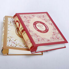 "Photo Album Pocket Storage Case Picture Book 4D 6"" Holds 200 Slot Burgundy New"