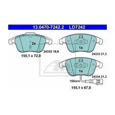 ATE LD7242 Bremsbelagsatz, Scheibenbremse ATE Ceramic  13.0470-7242.2  Vorne