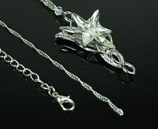 Magic Lord Of The Rings LOTR Hobbit Arwen Evenstar Silver Necklace Pendant Prop