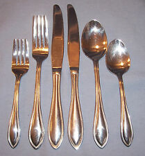 6 Pc WALLACE AMERICAN TRADITION 18/10 Table Place Setting Knife Forks Spoons Set