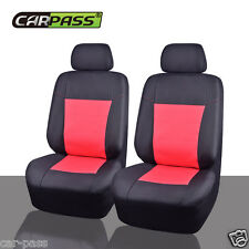 Universal Two Front Neoprene Car Seat Covers Red Black WaterProof Car Seat cover