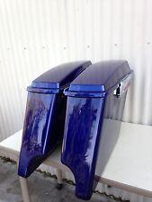 Deep Cobalt Blue stretch saddlebags4 Inch Stretched hardware 4 Harley Davidson