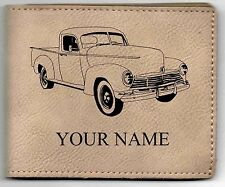 Hudson Pickup Leather Billfold With Drawing and Your Name On It-Nice Quality