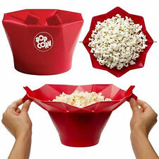 Microwave Silicone Magic Household Popcorn Maker Container Healthy Cooking Tool~