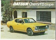 DATSUN CHERRY FII COUPE SALES 'BROCHURE'/SHEET 1976