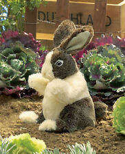 "BABY DUTCH  RABBIT Puppet  # 2571 ~ 10"" Tall ~ FREE SHIP/USA ~ Folkmanis Puppets"