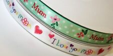 I love you mom and mum satin ribbon pack 2x2m mothering sunday cake craft ribbon