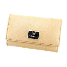 Auth Salvatore Ferragamo Key Case unisexused J8813