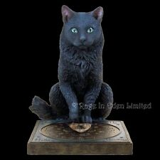 *HIS MASTER'S VOICE* Black Cat Ouija Resin Figurine By Lisa Parker