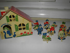 Vintage Fold Up Mother Goose House With Stand Up Figures - Stores Inside