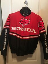 Honda Fox 101 Red Racing Jacket Size Between L & XL With Zip In Liner NWOT