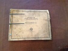 MARION 43 M SHOVEL CRANE PARTS BOOK REPAIR LIST MANUAL CATALOG