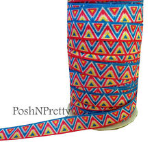 Tribal 3 Yards 5/8 Print Fold Over Elastic FOE - Style G