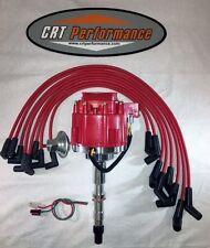 AMC/JEEP 1967-90 290,304,343,360,390,401 HEI DISTRIBUTOR & RED Plug Wires USA