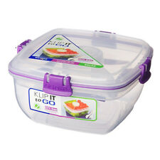 Sistema Klip It Chill It To Go 1.3L Lunch Box Purple Clips Lunch Picnic Salad
