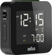 BRAUN Funkwecker alarm clock digital BNC008 schwarz radio controlled clock black