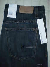 Calvin Klein Straight Cut Mid Straight Leg Mens Jeans Size 34 X 30.5 New Dark
