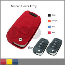 Leather Texture Silicone Cover fit for HYUNDAI KIA Flip Remote Key Case 3BTN RD