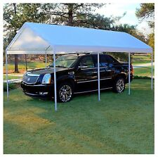 Replacement Canopy White 12 x 20 Carport Cover Frame Not Included- New Item