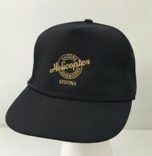 Arizona Helicopter Adventures Sedona Strapback Hat Black Adjustable Baseball Cap
