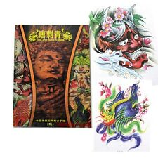 80 Pages A4 China Style Tattoo Flash Sketch Line Art Design Book Koi Prajna Lion