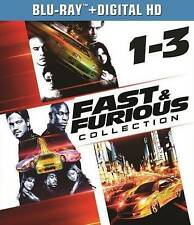 FAST & FURIOUS TRILOGY COLLECTION 1-3 BLU RAY 3 DISC SET TOKYO DRIFT