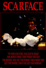 SCARFACE Movie POSTER 27x40 Scarface I Al Pacino Steven Bauer Michelle Pfeiffer
