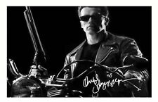 ARNOLD SCHWARZENEGGER - TERMINATOR AUTOGRAPHED SIGNED A4 PP POSTER PHOTO
