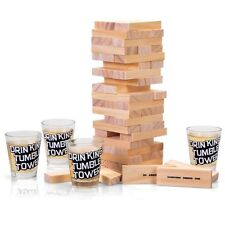 DRINKING SHOT JENGA TOWER GAME ADULT HEN STAG DO GIFT BIRTHDAY PARTY BAR PUB FUN