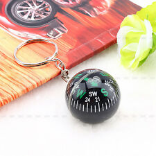 28mm Ball Keychain Liquid Filled Compass Camping Hiking Travel Outdoor Survival