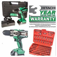 HITACHI 18v CORDLESS LITHIUM  COMBI DRILL BRAND NEW MODEL DV18DGL X2 1.5  BATTS