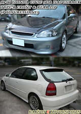 TR-Style Front Lip + CTR Style Rear Lip (Urethane) Fits 99-00 Civic 3dr