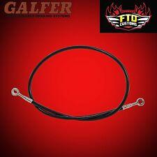 """Galfer 36"""" Black Extended Rear Brake Line for Swingarm Extensions"""