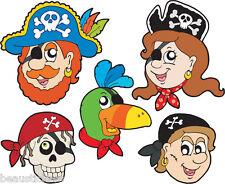 Stickers muraux enfant Pirates 25x30cm réf 3653